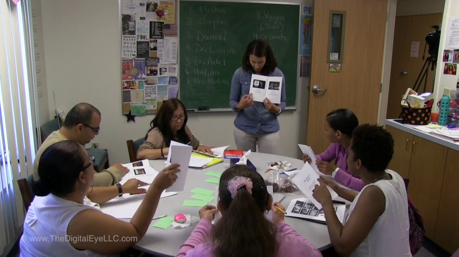 ACCES/CUNY ESOL Teacher Leader Lauren Draus with We are NY Read Aloud, Character Identification